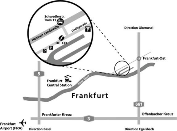 Frankfurt office location map